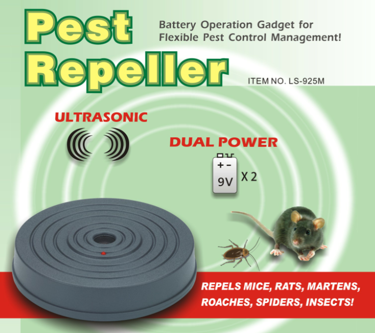 LS-925M,Dual Power B/O Ultrasonic Pest Repeller